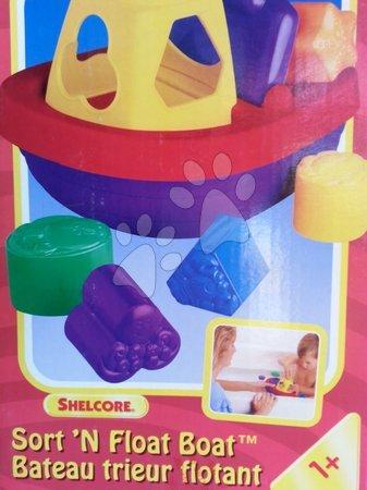 Hračky do vany - Vkládací loďka Shelcore plovoucí barevná