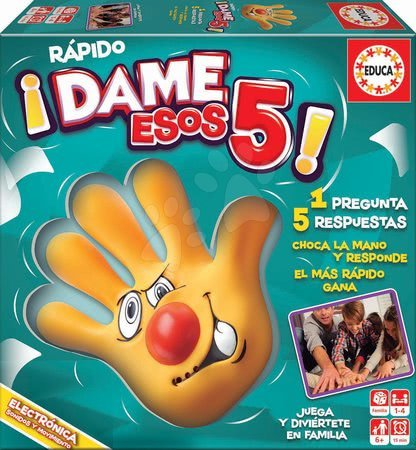 Spoločenské hry - Spoločenská hra Rapido Dame Esos 5 Educa po španielsky pre 1-4 hráčov od 6 rokov