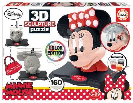 Puzzle - Puzzle 3D Sculpture Minnie Educa Colour edition 160 dielov EDU17930