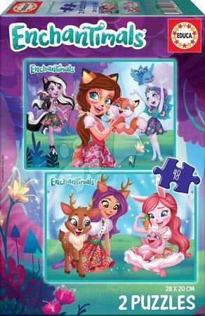 Enchantimals - Puzzle Enchantimals Educa 2x48 darabos 5 évtől