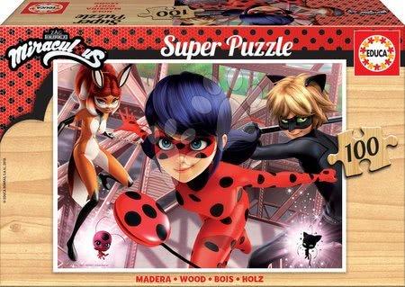 Lesene Disney puzzle - Lesene puzzle Miraculous Ladybug Educa 100 delčkov od 6 leta