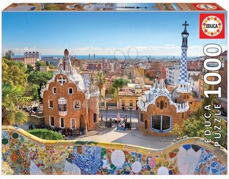 Puzzle Barcelona View from Park Guell Educa 1000 dílků a Fix lepidlo od 11 let