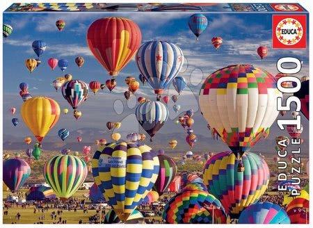 1500 darabos puzzle - Puzzle Hot Air Balloons Educa 1500 darabos és Fix ragasztó 11 évtől