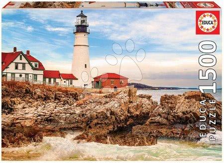 1500 darabos puzzle - Puzzle Rocky Lighthouse Educa 1500 darabos és Fix ragasztó 11 évtől