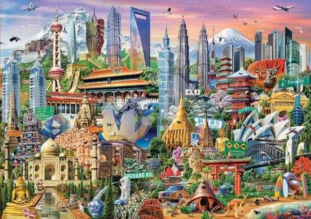 1500 darabos puzzle - Puzzle Asia Landmarks Educa 1500 darabos és Fix ragasztó 11 évtől_1