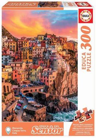 Puzzle 500 dílků - Puzzle Manarola, Cinque Terre Italy Senior XXL Educa 300 dílků od 11 let