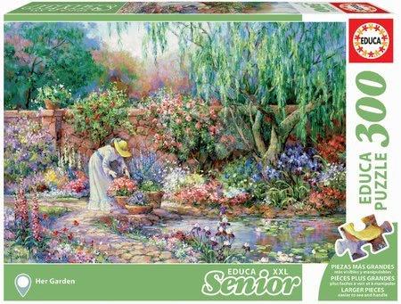 Puzzle 500 dílků - Puzzle Her Garden Senior XXL Educa 300 dílků od 11 let