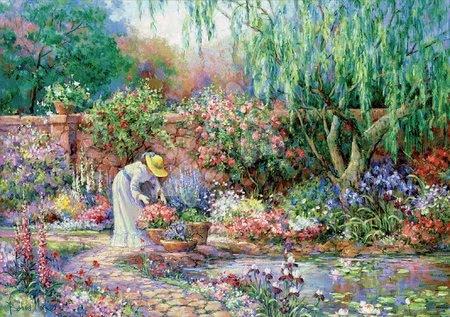 Puzzle 500 dílků - Puzzle Her Garden Senior XXL Educa 300 dílků od 11 let_1