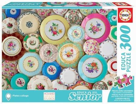 Puzzle 500 dílků - Puzzle Plates Collage Senior XXL Educa 300 dílků od 11 let
