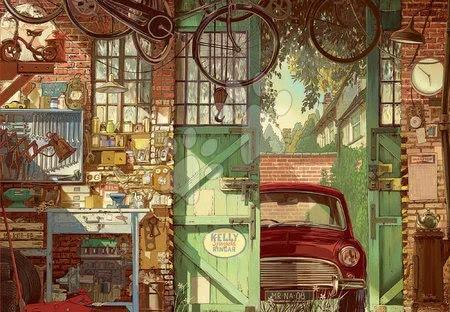 1500 darabos puzzle - Puzzle Old garage, Arly Jones Educa 1500 darabos és Fix ragasztó 11 évtől_1
