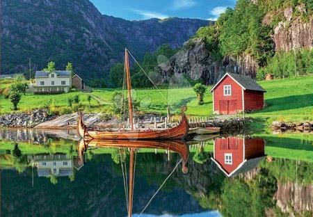 1500 darabos puzzle - Puzzle Viking ship Educa 1500 darabos és Fix ragasztó 11 évtől_1