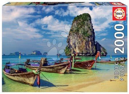 Igračke za sve od 10 godina - Puzzle Krabi Thailand Educa 2000 dijelova i Fix ljepilo od 11 godina