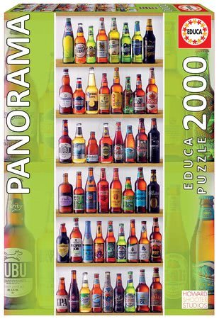 Puzzle panorama World Beers Educa 2000 dielov a Fix lepidlo od 11 rokov