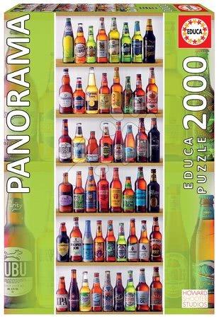Puzzle panorama World Beers Educa 2000 darabos és Fix ragasztó 11 évtől