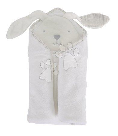 Osuška s kapucňou pre najmenších Classic toTs-smarTrike zajačik 100% prírodná velúr bavlna biela