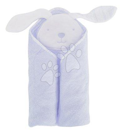 Osuška s kapucňou pre najmenších Classic toTs-smarTrike zajačik 100% prírodná velúr bavlna modrá od 0 mesiacov