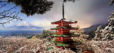 Igračke za sve od 10 godina - Puzzle panorama Mount Fuji and Chureito Pagoda Educa 3000 dielov EDU18013_1