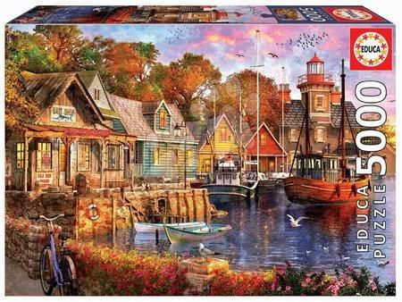 Igračke za sve od 10 godina - Puzzle The harbour evening Educa 5000 dijelova od 11 godina