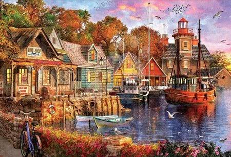 Igračke za sve od 10 godina - Puzzle The harbour evening Educa 5000 dijelova od 11 godina_1