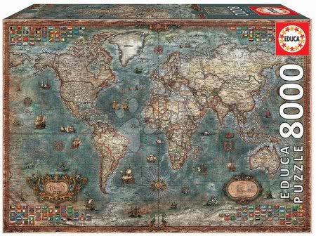Puzzle Historical World Map Educa 8000 darabos 11 évtől