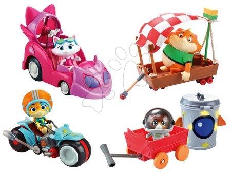 Kreativne i didaktičke igračke - Set 4 figurice mačke s vozilima 44 Cats Smoby set 4 vrste