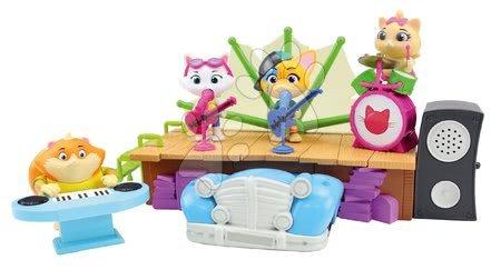 Kreativne i didaktičke igračke - Mňaukózne príbehy Mačacie auto 44 Cats Large Playset Auto Smoby s množstvom sveteľných a zvukových funkcii SM180221