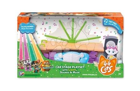 Kreativne i didaktičke igračke - Mňaukózne príbehy Mačacie auto 44 Cats Large Playset Auto Smoby s množstvom sveteľných a zvukových funkcii SM180221_1