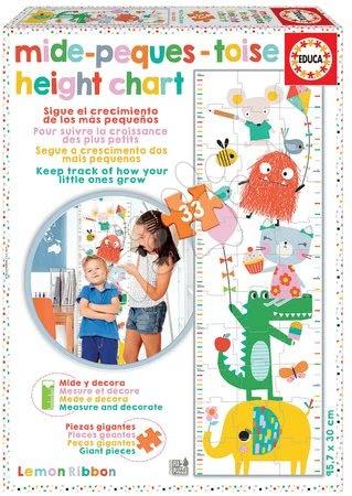 Dětské puzzle do 100 dílků - Puzzle pro děti Metr Lemon Ribbon Educa 33 dílků a Fix lepidlo