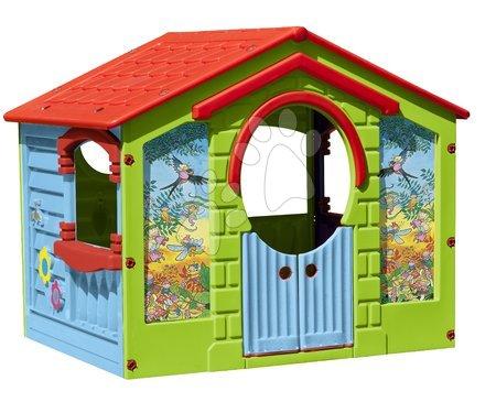 Detský domček Happy House PalPlay s kvetinkami zelený