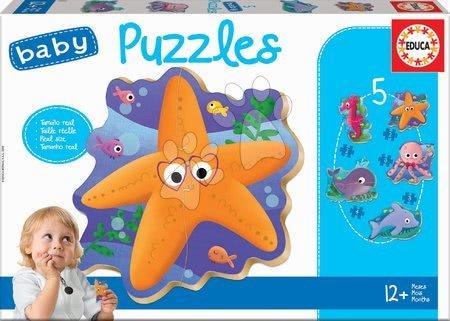Puzzle pentru copii  - Puzzle pentru cei mici Baby 5 Educa Animale de mare de la 12 luni