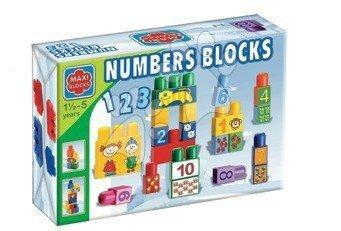 Stavebnice Dohány - Kocky Maxi Blocks čísla Dohány v kartóne 34 dielov od 18 mes