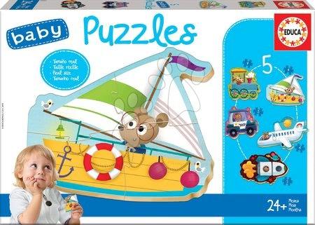 Puzzle pentru copii  - Puzzle pentru cei mici Baby 5 Educa Mijloace de transport II. de la 12 luni