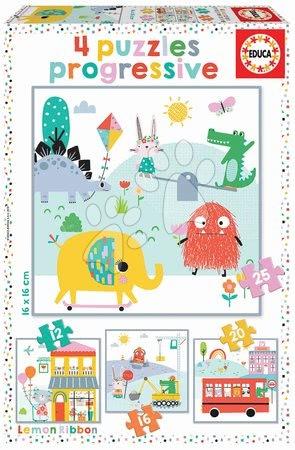 Progresszív gyerek puzzle - Puzzle progressive Lemon Ribbon Educa 12-16-20-25 darabos