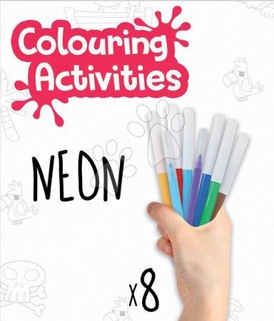 Dětské puzzle od 100–300 dílků - Puzzle omalovánky Piráti Colouring Activities v kufříku Educa 100 dílků – malování s neonovými fixkami od 6 let_1