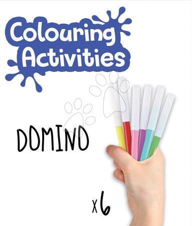 Domino a Lotto - Domino vymaľovánky Zvieratá Colouring Activities Educa v kufríku 18 dielov - maľovanie s fixkami_1