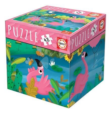 Puzzle Mini Box Flamingo Educa 48 dielov od 4 rokov