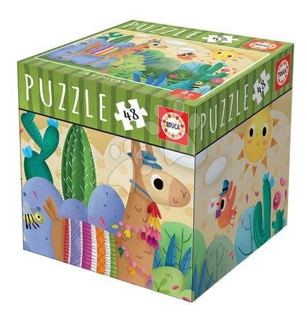 Puzzle Mini Box Lama Educa 48 dielov od 4 rokov