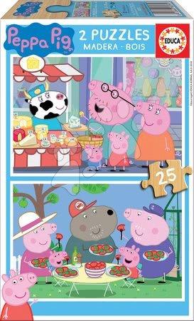 Lesene Disney puzzle - Lesene puzzle Peppa Pig Educa 2x25 delov od 4 leta