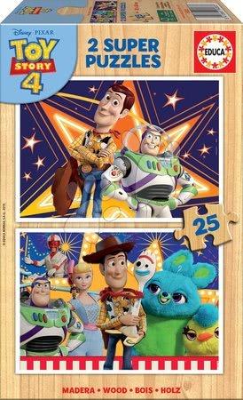 Toy Story - Drevené puzzle pre deti Toy Story Educa 2x25 dielov od 4 rokov