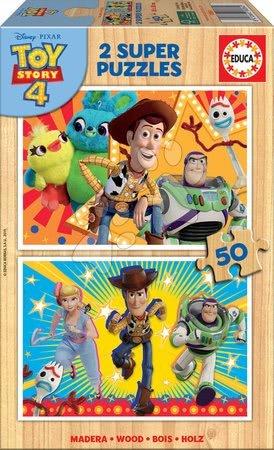 Lesene Disney puzzle - Lesene puzzle za otroke Toy Story Educa 2x50 delov od 5 leta