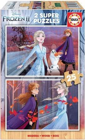Lesene Disney puzzle - Lesene puzzle za otroke Frozen Educa 2*25 delčkov do 4 leta
