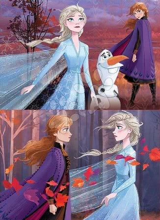Lesene Disney puzzle - Lesene puzzle za otroke Frozen Educa 2*25 delčkov do 4 leta_1