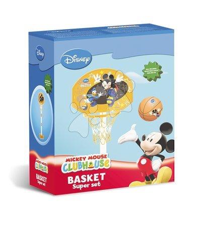 Rekreációs sport - Kosárlabda gyűrű Mickey Mondo állítható állvánnyal és labdával 5 évtől_1