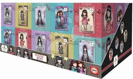 Dětské puzzle od 100–300 dílků - Puzzle Mini Cubes Santoro London Gorjuss Educa 100 dílů 5 druhů od 6 let_1