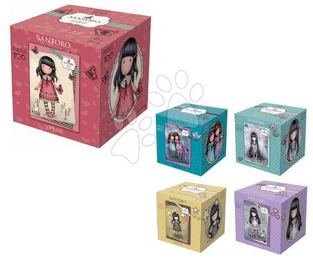 Dětské puzzle od 100–300 dílků - Puzzle Mini Cubes Santoro London Gorjuss Educa 100 dílů 5 druhů od 6 let