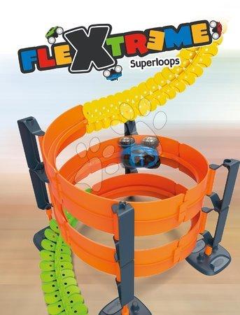 Autíčka a trenažéry - Náhradní díl okruhy k flexibilní autodráze Flextrem Discovery Superloops Set Smoby vertikální a horizontální 2 kusy_1