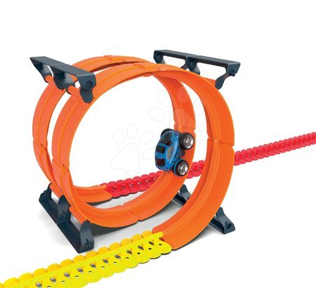 Hračky pre deti od 3 do 6 rokov - Náhradný diel okruhy k flexibilnej autodráhe Flextrem Discovery Superloops Set Smoby vertikálne a horizontálne 2 kusy