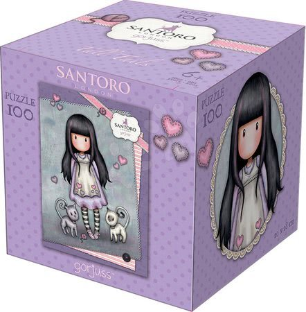 Santoro London - Puzzle Mini Cubes Santoro London Gorjuss Educa Tall tails 100 dílků od 6 let