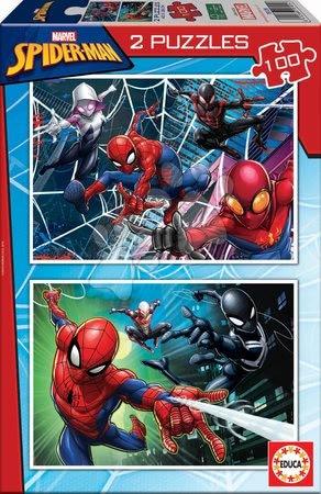 Spiderman - Puzzle Omul păianjen Educa 2x100 piese de la 6 ani
