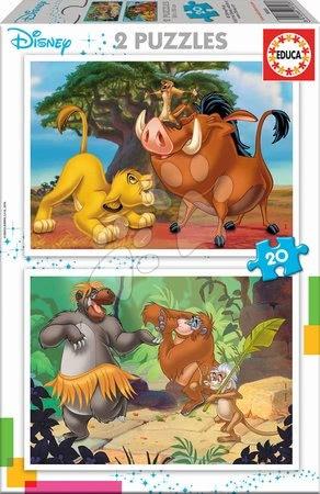 Puzzle Oroszlánkirály Disney Educa 2x20 darabos 4 évtől